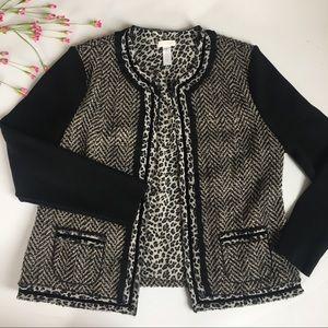 Chico's Tweed Leopard Blazer